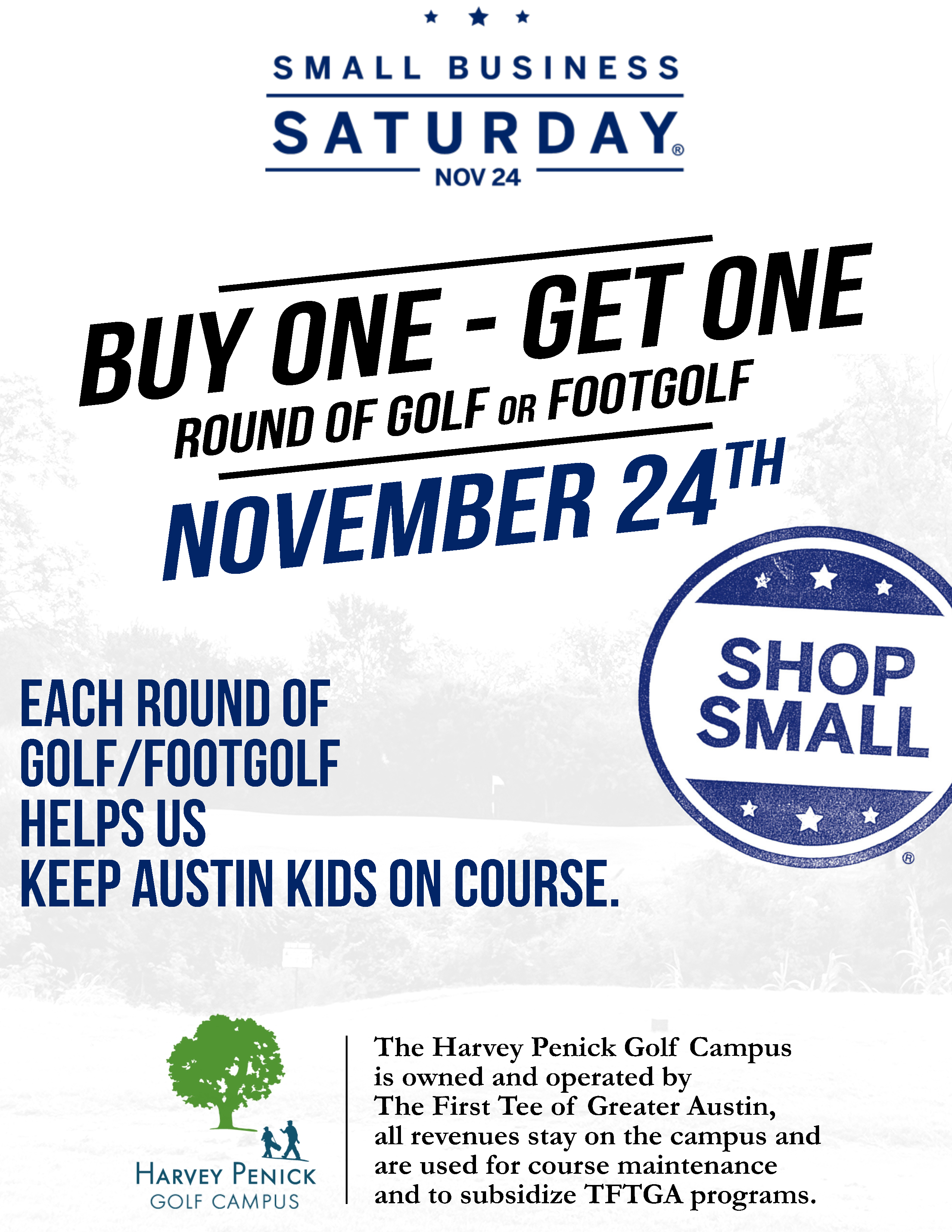 Small business saturday bogo